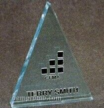 Acrylic Paperweight Up To 12 Square Inches / Triangle