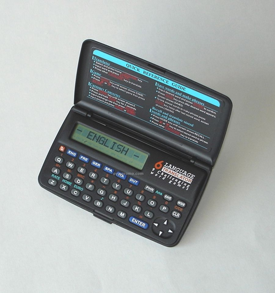 "Six Language Digital Translator (4-1/2""X1/2""X2-5/8"")"