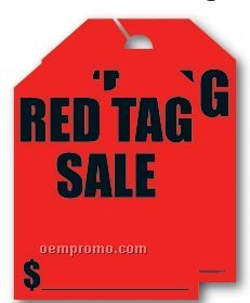 """V-t Fluorescent Mirror Hang Tag - Red Tag Sale (8 1/2""""X11 1/2"""")"""
