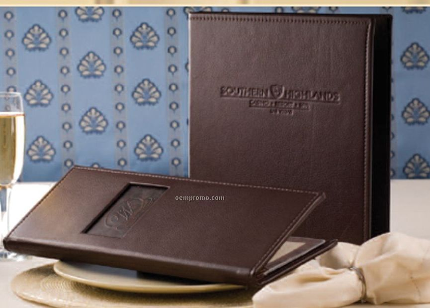 Greenwich - Genuine Leather Menu Cover (Single Panel - 8-1/2