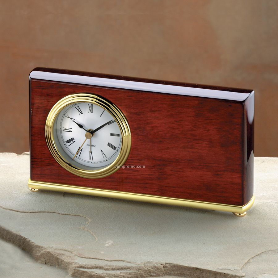 "Piano Finished Wood Alarm Clock (7-3/4""X4""X1-1/2"")"