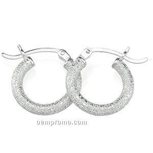 29-3/4mm Ladies' Sterling Silver Hoop Earring