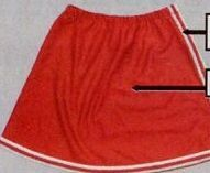Adult Solid A-line Skirt W/ Covered Elastic Waistband W/ Stripes (S-xl)