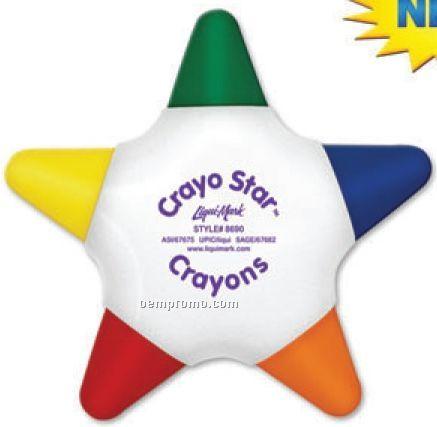 Crayo-star 5 Color Star Crayon