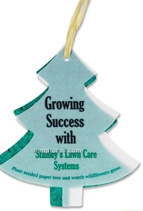 Seeded Paper Ornament - Tree