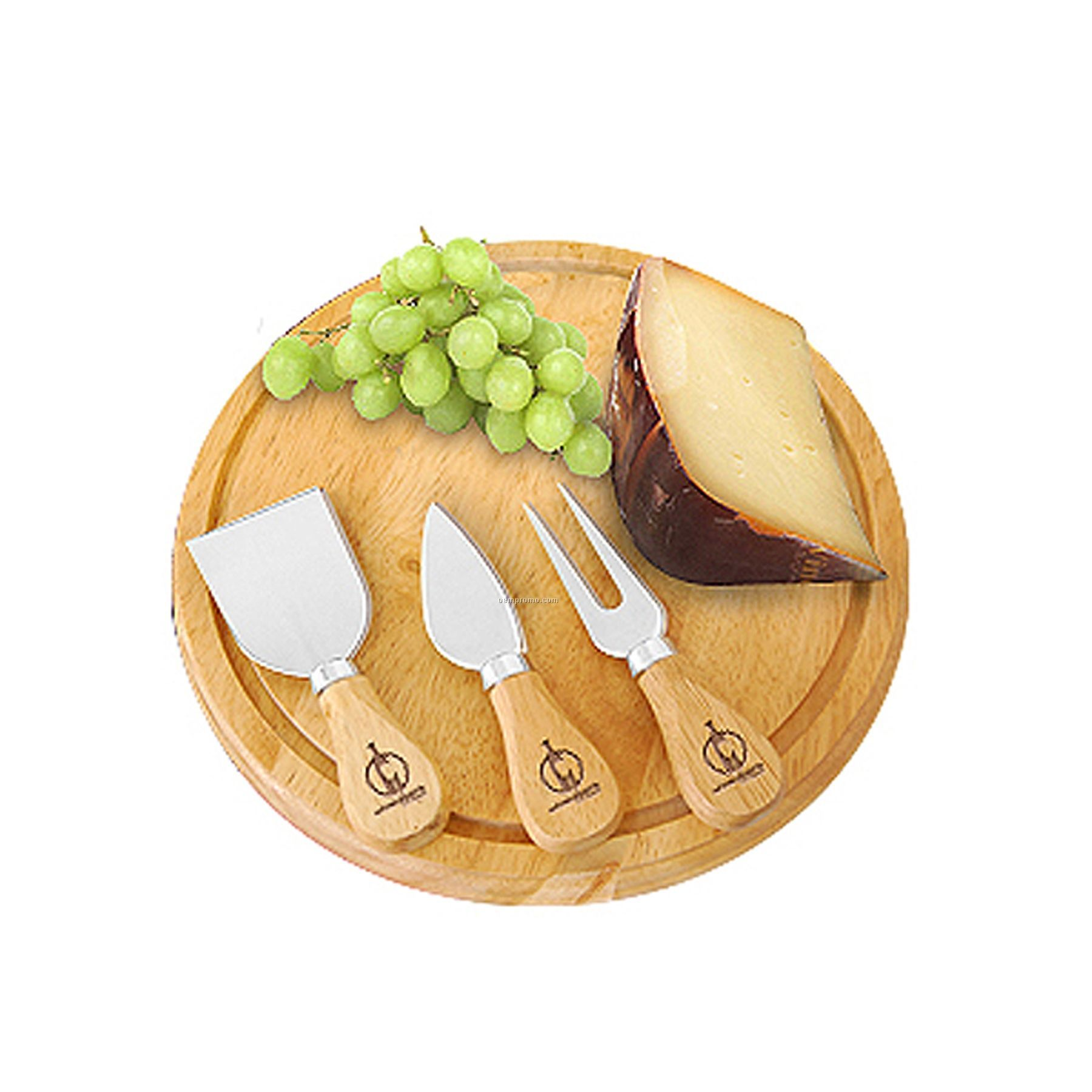 Wood Entertaining Cheese Set