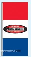 Double Face Dealer Free Flying Drape Flags - Toyota Certified