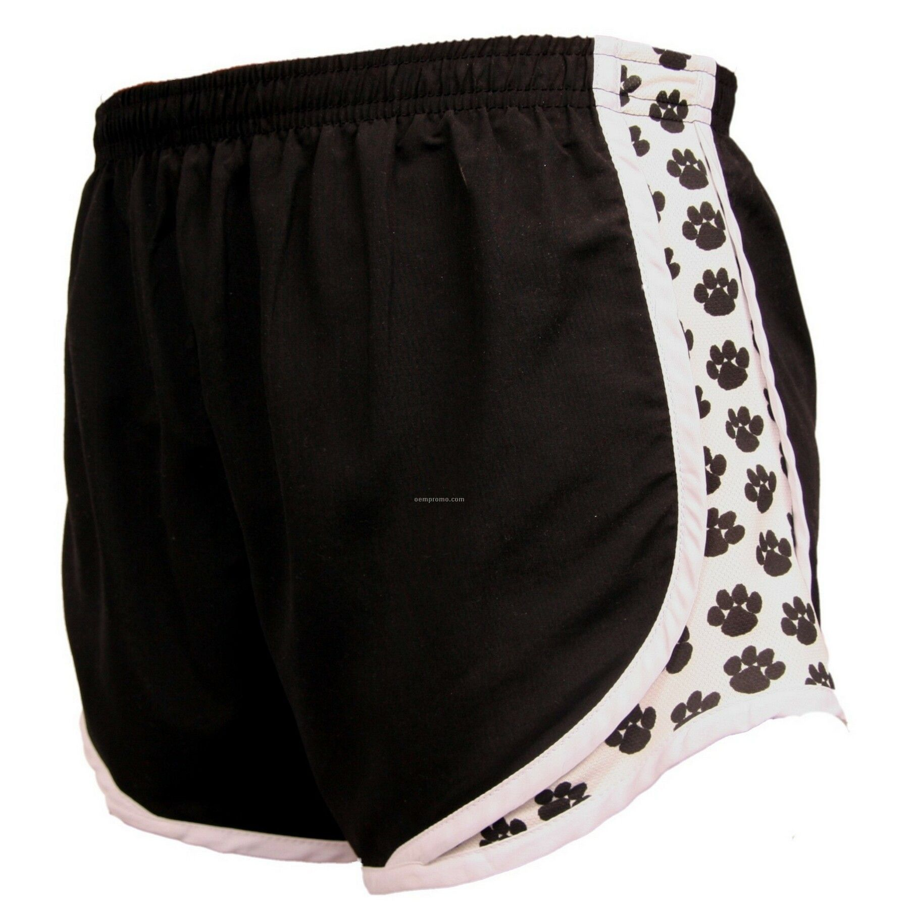 Adult Black/White/Paw White Velocity Shorts