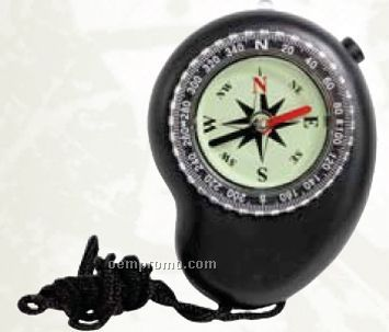 Black LED Compass With Lanyard