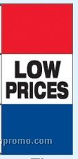 Double Face Stock Message Free Flying Drape Flags - Low Prices