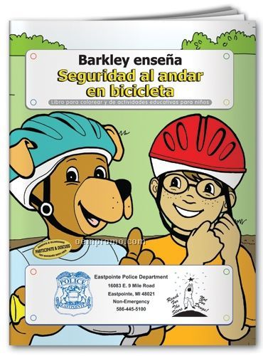 Spanish Action Pack Book W/Crayons & Sleeve- Barkley Teaches Bicycle Safety