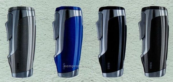 Triple Blue Torch Flame Lighter W/ Built In Cigar Punch