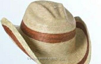 2 Tone Straw Hat W/ U Shape It Brim