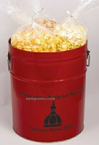 3 1/2 Gallon, 3 Way Popcorn Tin (Butter, Cheddar And White Cheddar)