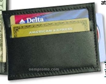 Carry All Money Clip/Credit Card Holder/Steel Clip - Top Grain Cowhide