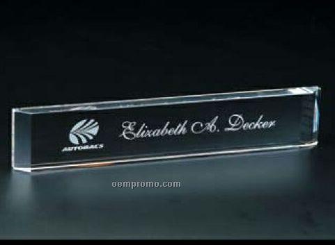 Signature Name Plate Desktop Award