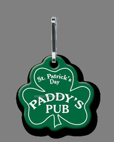 Sof-touch Vinyl Large Shamrock Quik Zip Zipper Pull