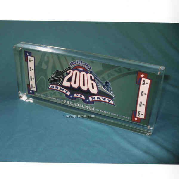 "2 Part Sports Ticket Display (7""X3""X1/2"")"