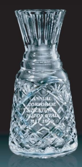25 Oz. Lead Crystal Decanter W/ Round Mouth