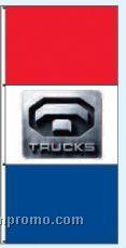 Double Face Dealer Free Flying Drape Flags - Trucks