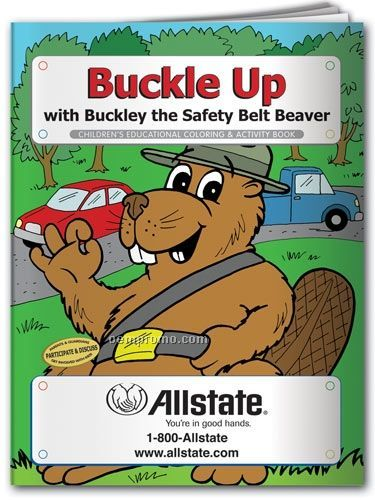 Fun Pack Coloring Book W/ Crayons - Buckle Up With Buckley Beaver