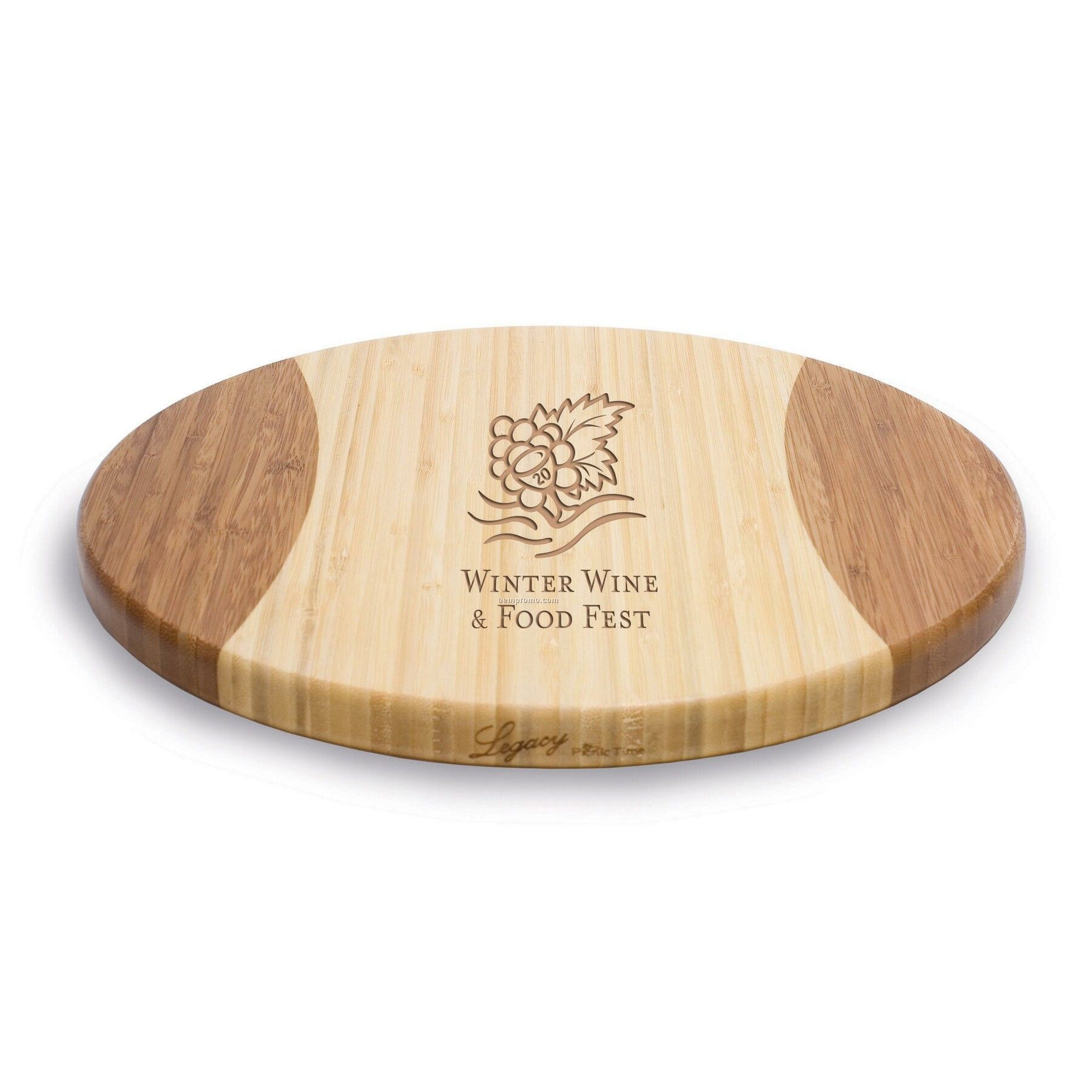 "Rotondo 12"" Round 2 Tone Bamboo Cutting Board / Serving Tray"