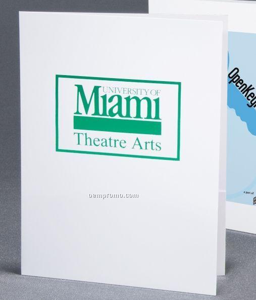 Style N5 Standard White Paper Printed Vertical Pocket Folder