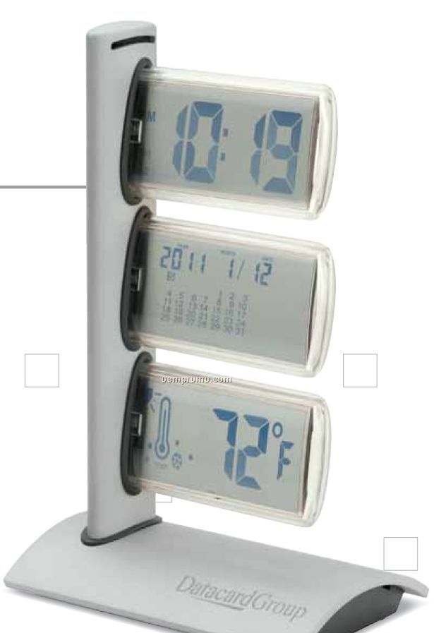 World Time Clock W/ Thermometer