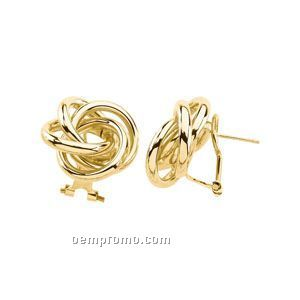 20x21 Ladies' 14ky Knot Earring