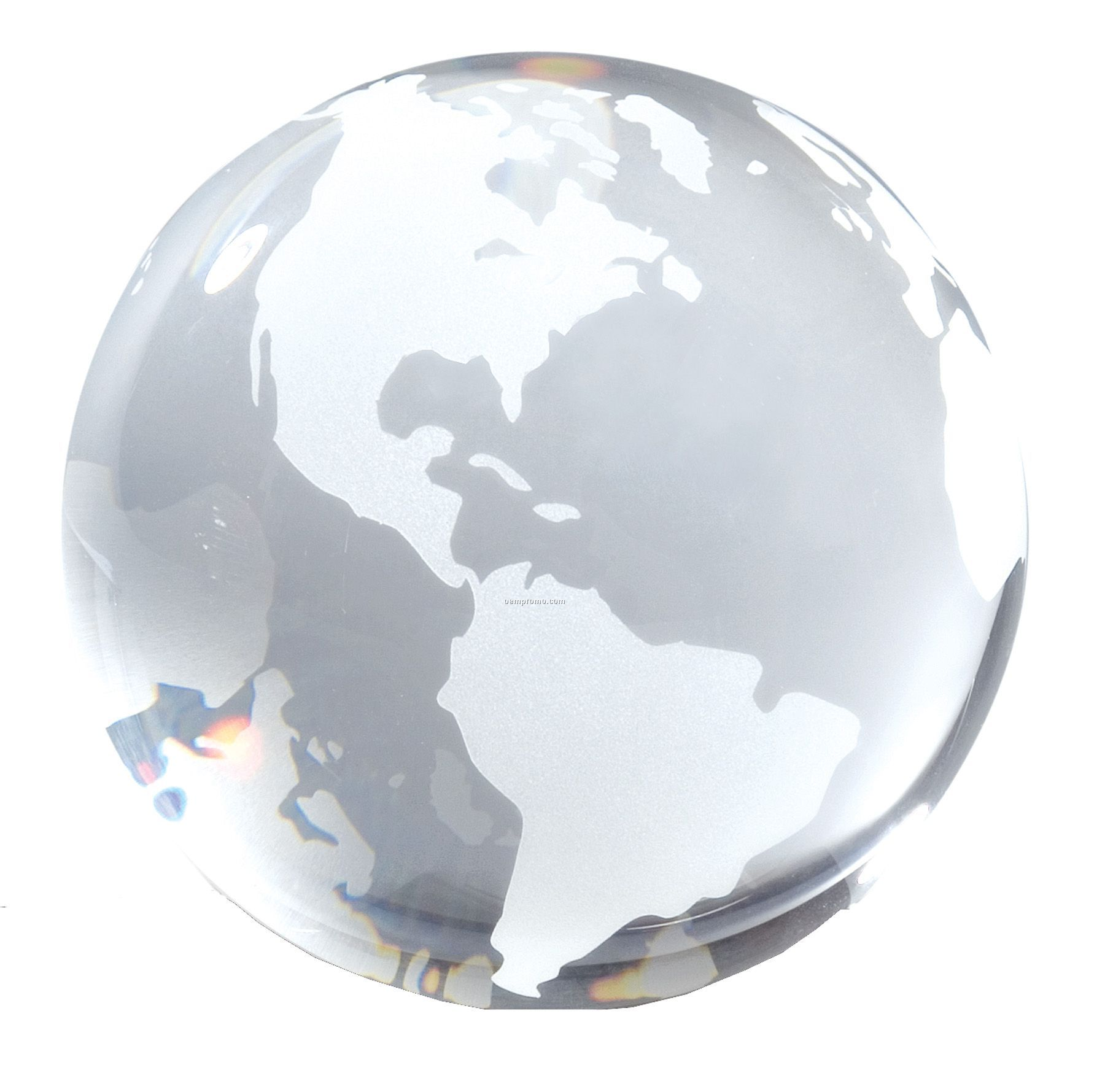 Clear Opti-crystal Globe Paperweight