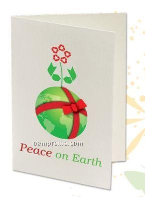 Plant A Shape Holiday Cards - Peace On Earth