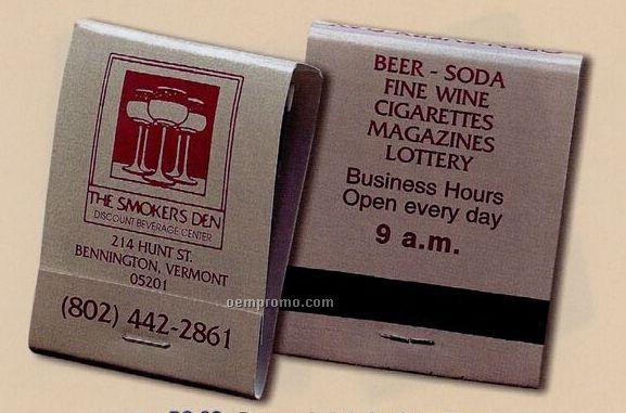 20 Strike Stock Design Match Books (Burgundy Or Burgundy Reverse On Gray)