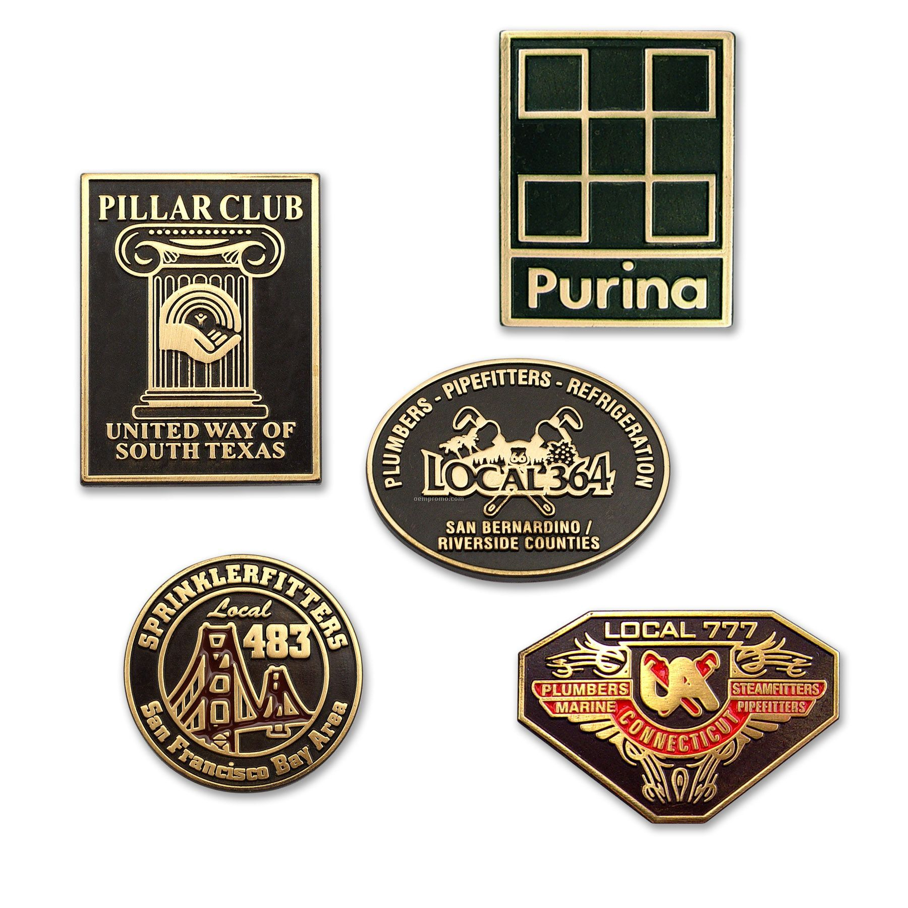 Lapel Pin / Die Struck With Black Oxide Finish - Made In Usa
