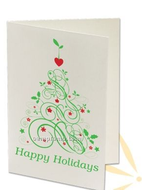 Plant A Shape Holiday Cards - Happy Holidays