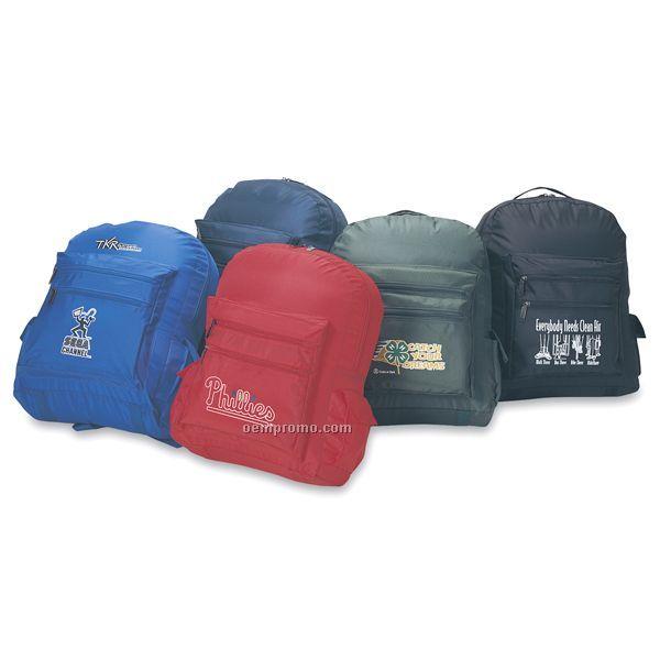 Sold Color Nylon Backpack