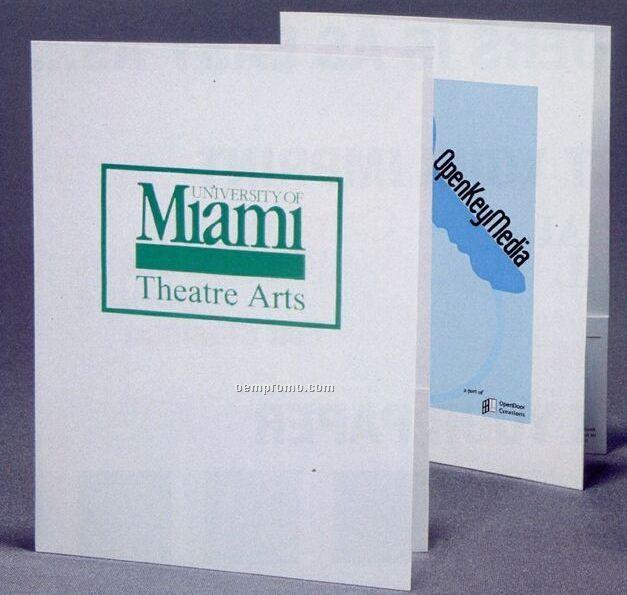 Style Q Standard White Paper Printed Reinforced Full Tab Pocket Folder