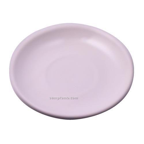 Tacoma Latte White Ceramic Saucer