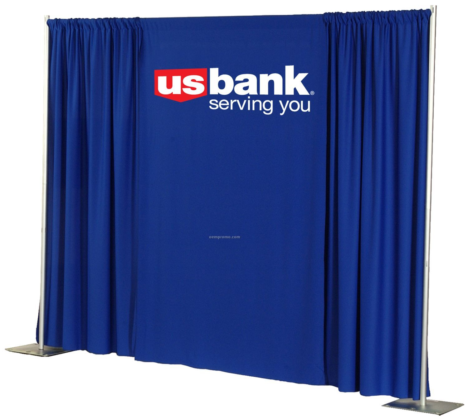 "Wall Drape With 4"" Pole Pocket - 3 Color (8')"