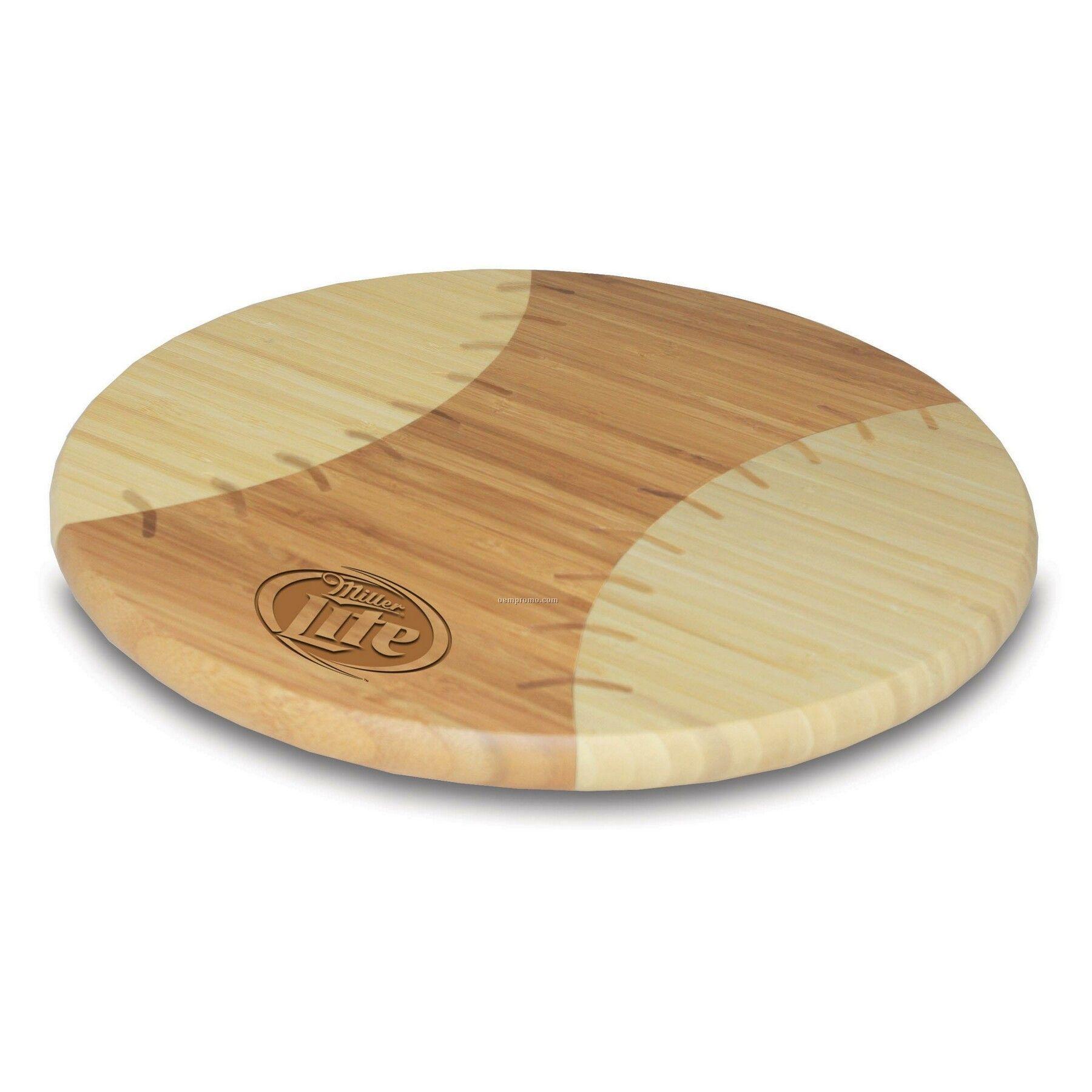 Homerun Baseball Shaped Bamboo Cutting Board / Serving Tray