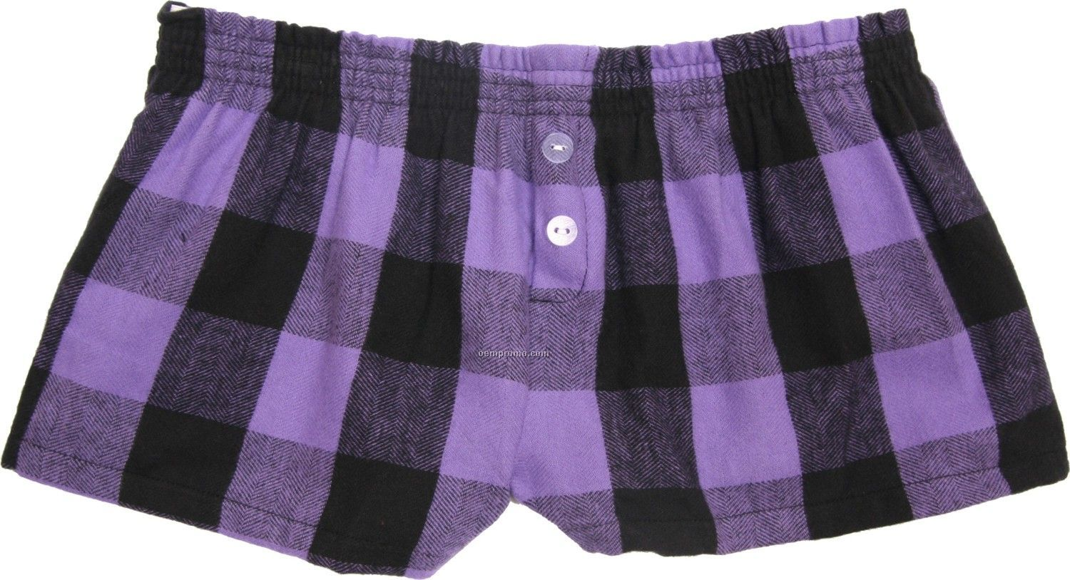 Ladies' Vivid Violet Flannel Bitty Boxer Short With False Fly