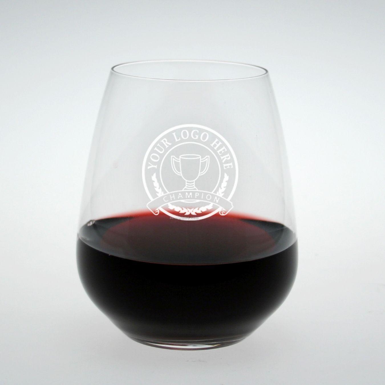 Studio Stemless Cabernet/ Merlot Glass (Set Of 2 - Deep Etch)