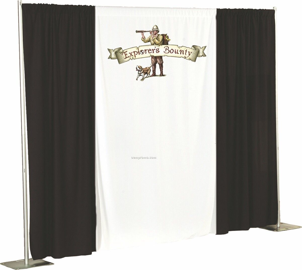 "Wall Drape With 4"" Pole Pocket - Dye-sub (8')"