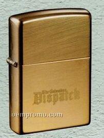 Brushed Brass Zippo Wind Resistant Lighter