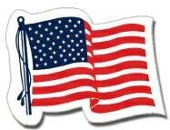 Die Cut Outside Stock Patriotic Flag Decals