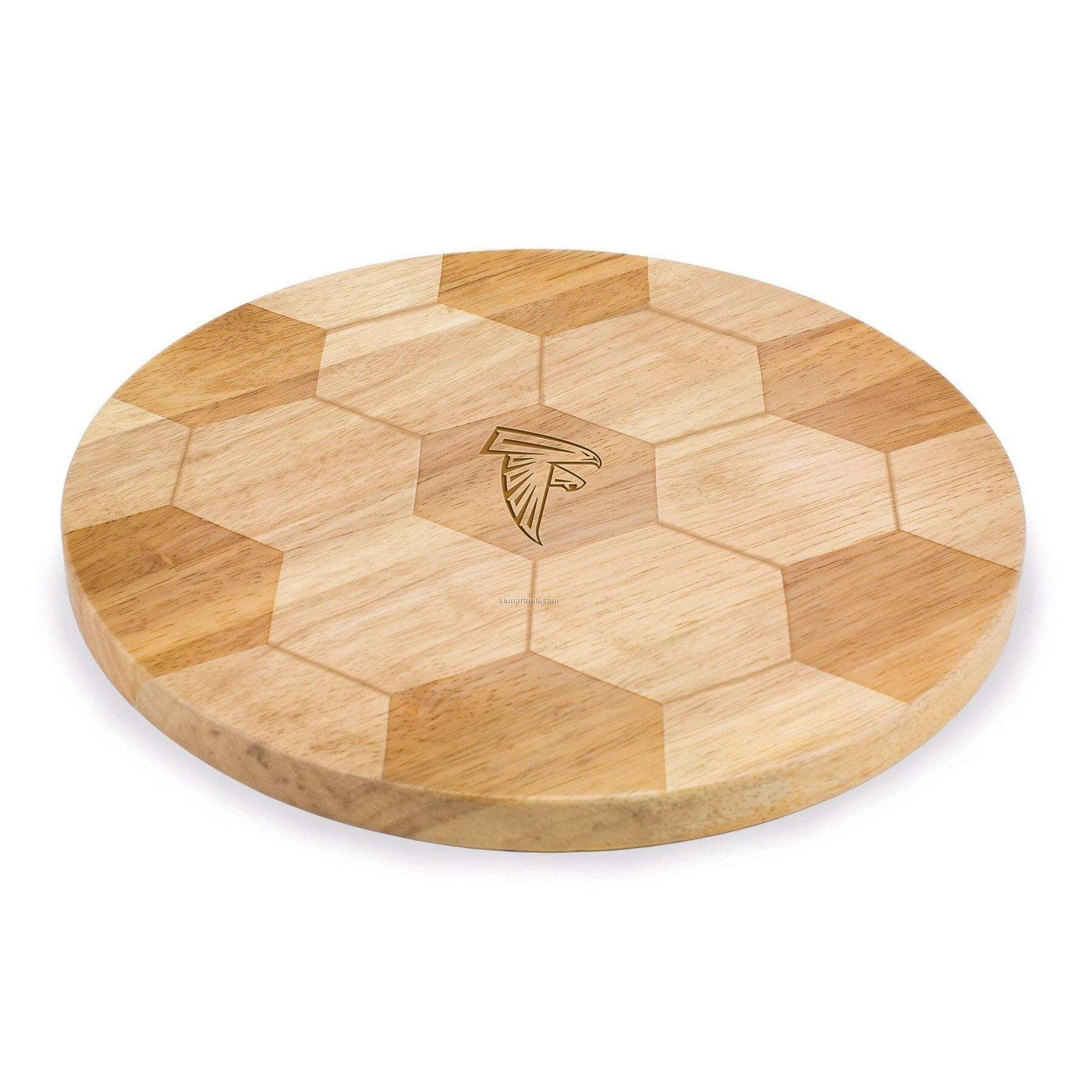Goal Soccer Ball Shaped Wood Cutting Board / Serving Tray