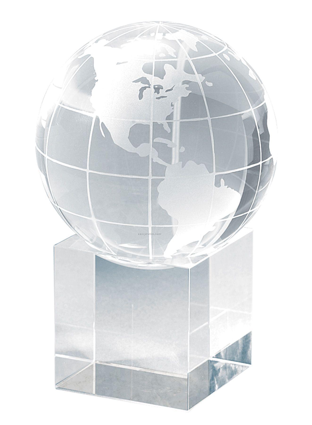 Petite Cube World Globe And Base