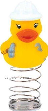 Rubber Construction Worker Duck Bobble