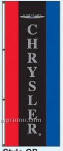 Double Face Dealer Free Flying Drape Flags - Chrysler