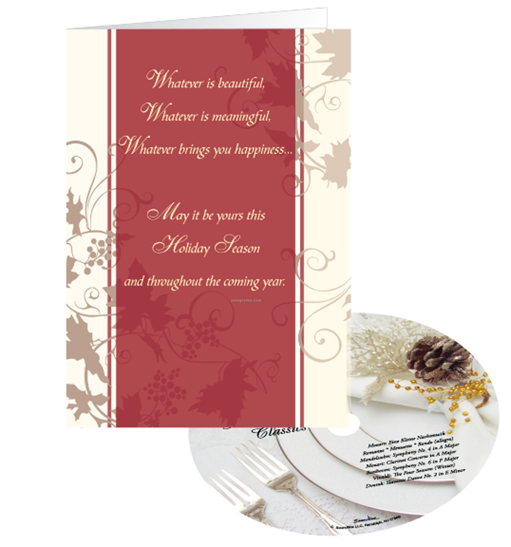Holiday Wishes Greeting Card With Matching CD