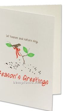 Plant A Shape Holiday Cards - Let Heaven And Nature Sing
